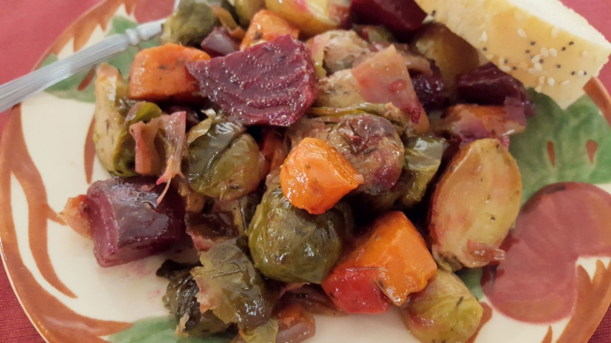 Greek-Style Roasted Winter Vegetables