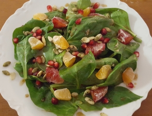 Winter Spinach Salad in Recipes