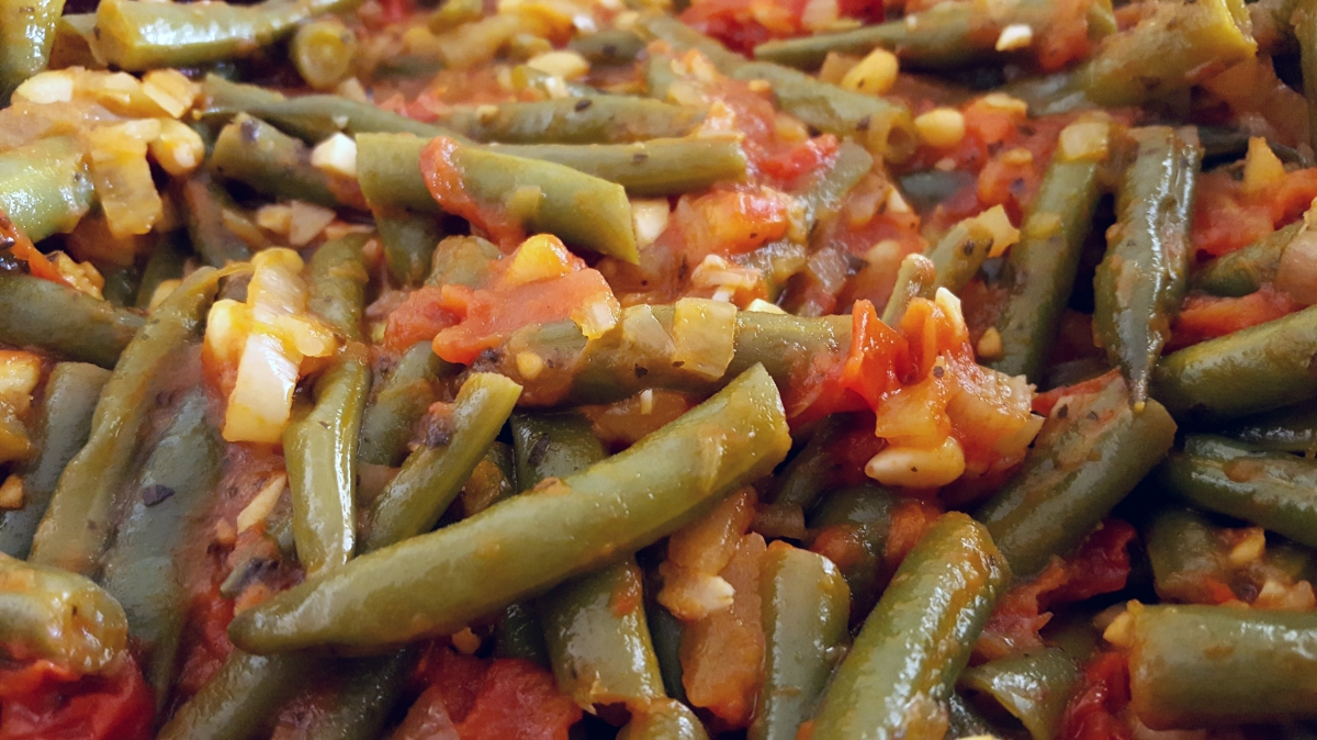 Greek Green Beans with Tomatoes